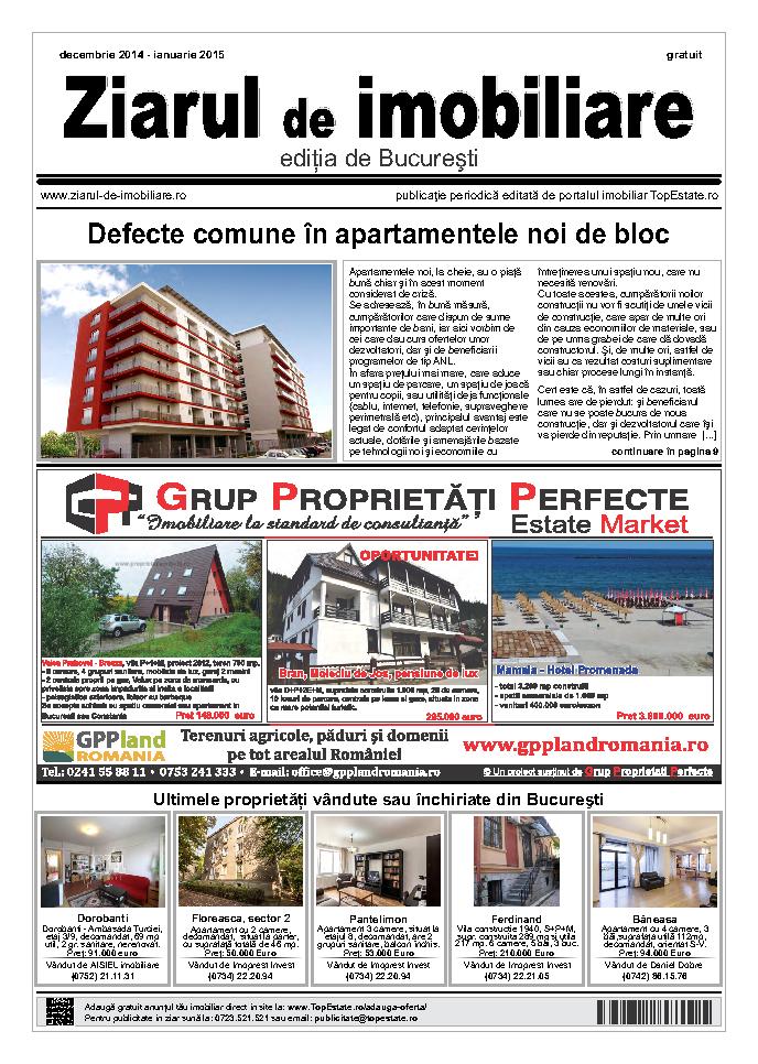 Ediţia de București, 01 Decembrie 2014