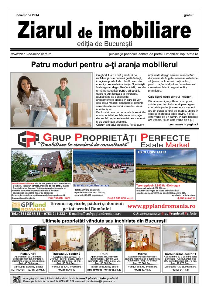 Ediţia de București, 01 Noiembrie 2014