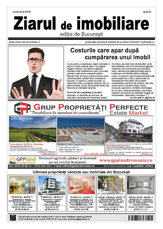 Ediţia de București, 01 Octombrie 2014