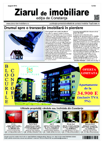 Ediţia de Constanţa, 01 August 2013
