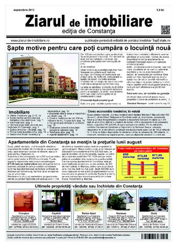 Ediţia de Constanţa, 01 Septembrie 2013