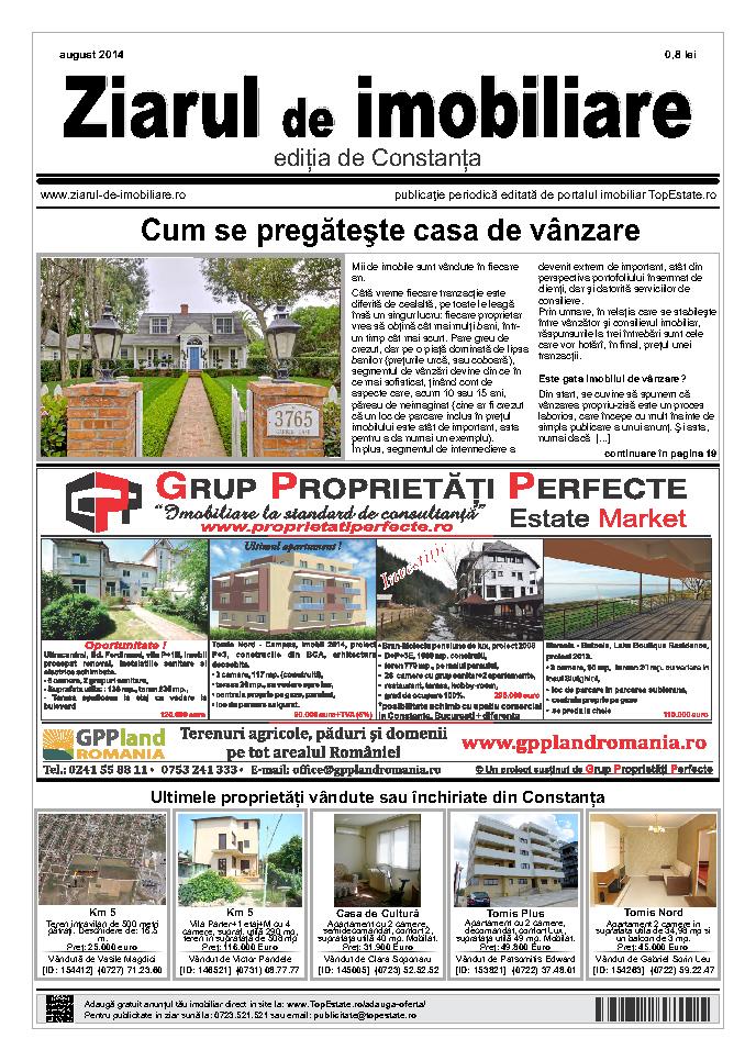 Ediţia de Constanţa, 01 August 2014