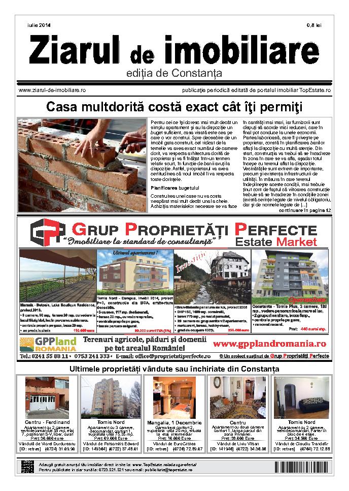 Ediţia de Constanţa, 01 Iulie 2014