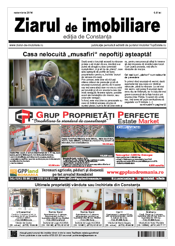 Ediţia de Constanţa, 01 Noiembrie 2014