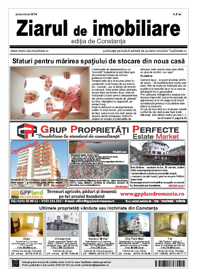 Ediţia de Constanţa, 01 Octombrie 2014