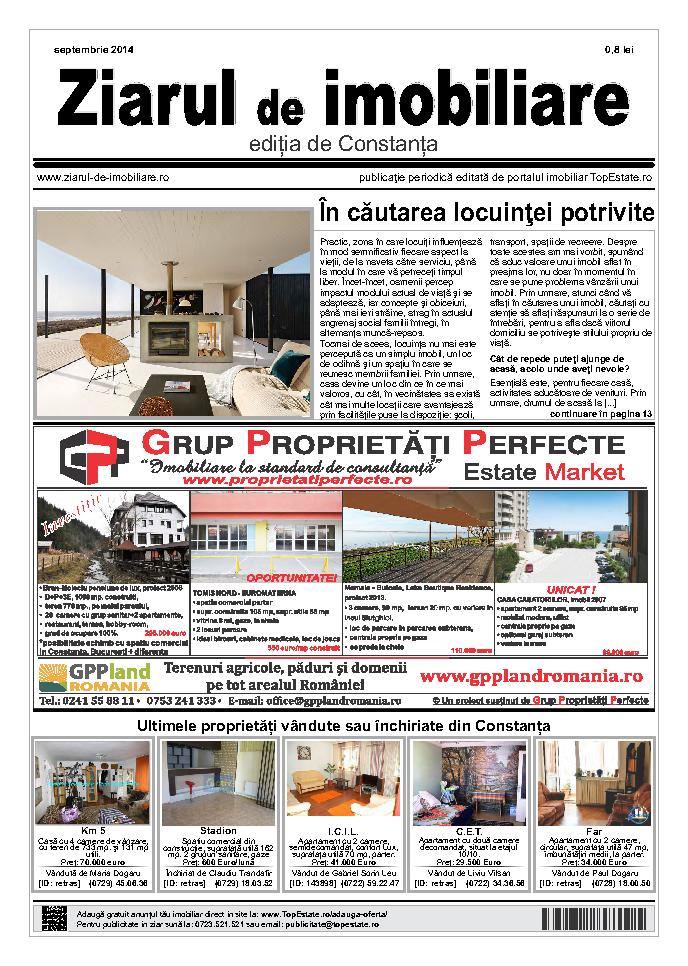 Ediţia de Constanţa, 01 Septembrie 2014