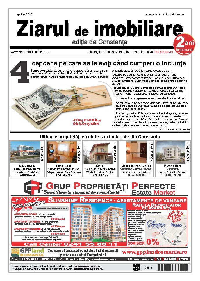Ediţia de Constanţa, 01 Aprilie 2015