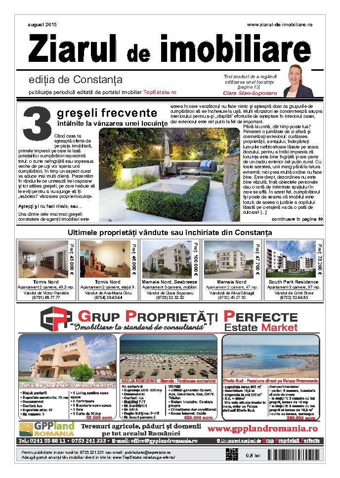 Ediţia de Constanţa, 01 August 2015