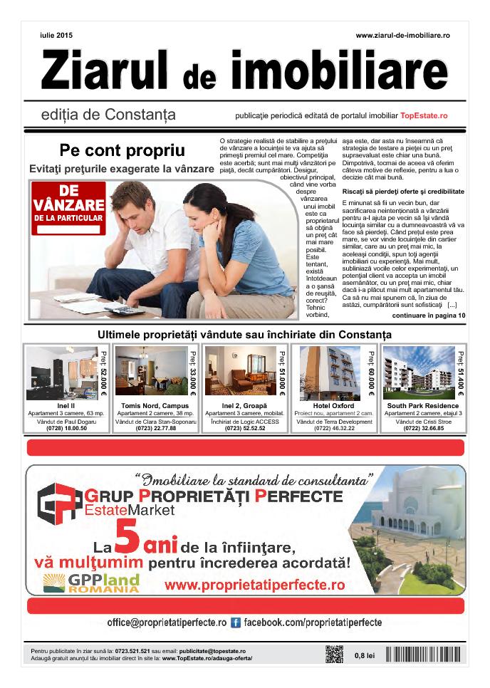 Ediţia de Constanţa, 01 Iulie 2015