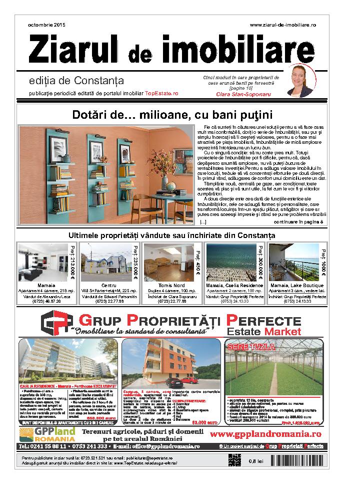 Ediţia de Constanţa, 01 Octombrie 2015