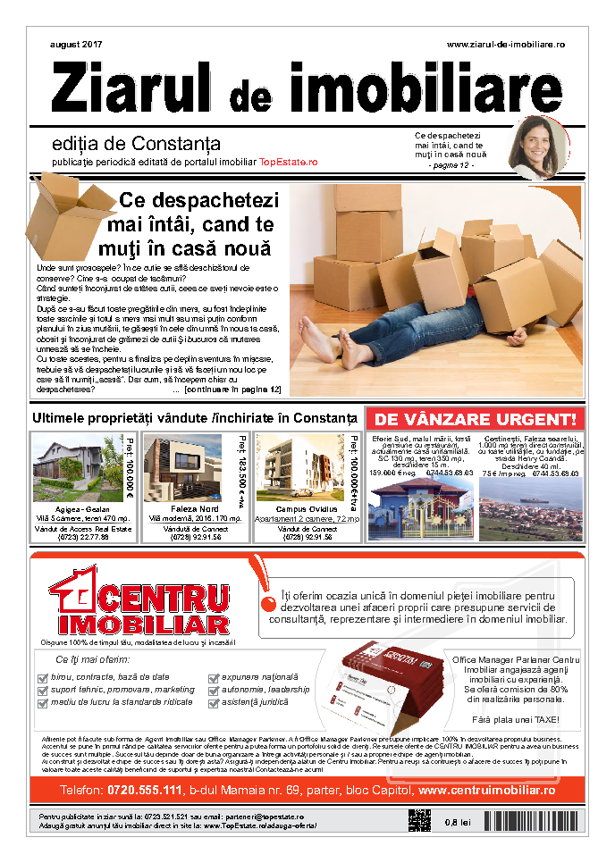 Ediţia de Constanţa, 01 August 2017