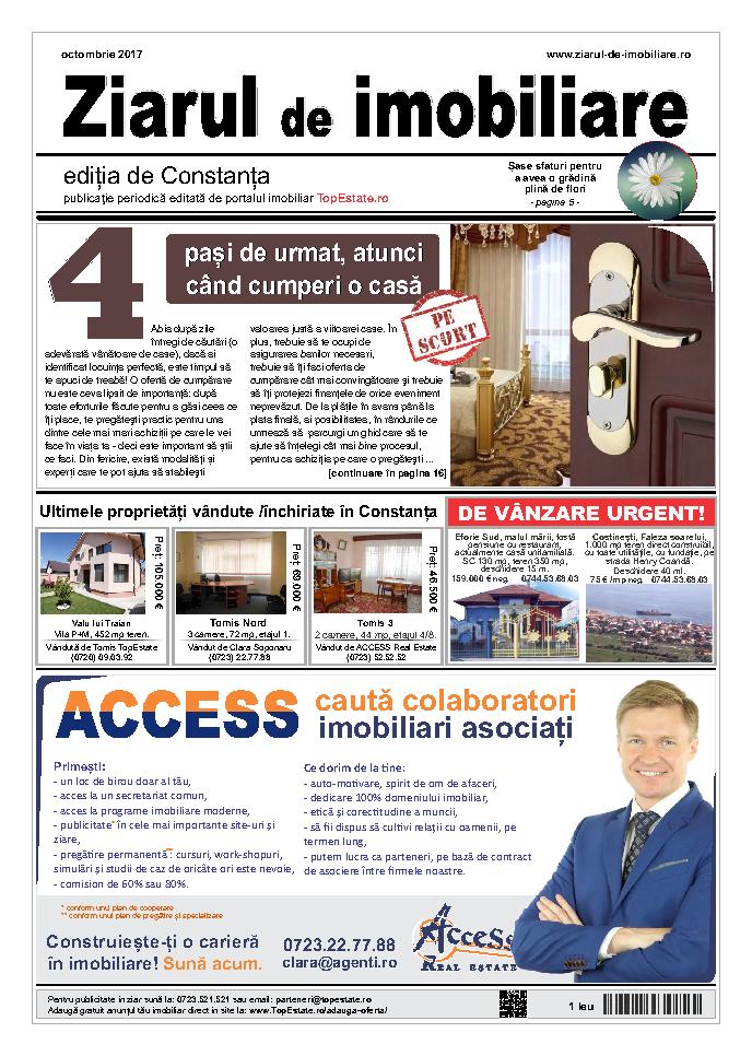 Ediţia de Constanţa, 01 Octombrie 2017