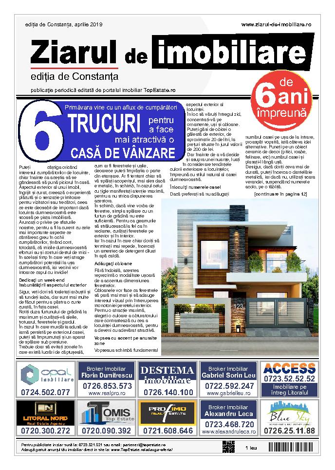 Ediţia de Constanţa, 01 Aprilie 2019