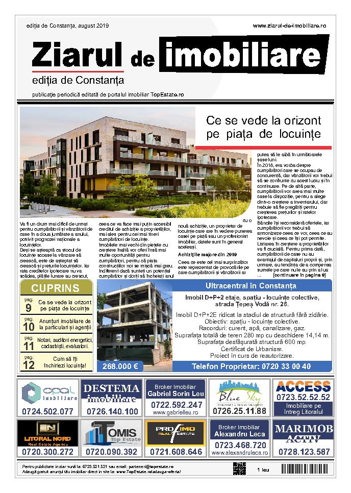 Ediţia de Constanţa, 01 August 2019