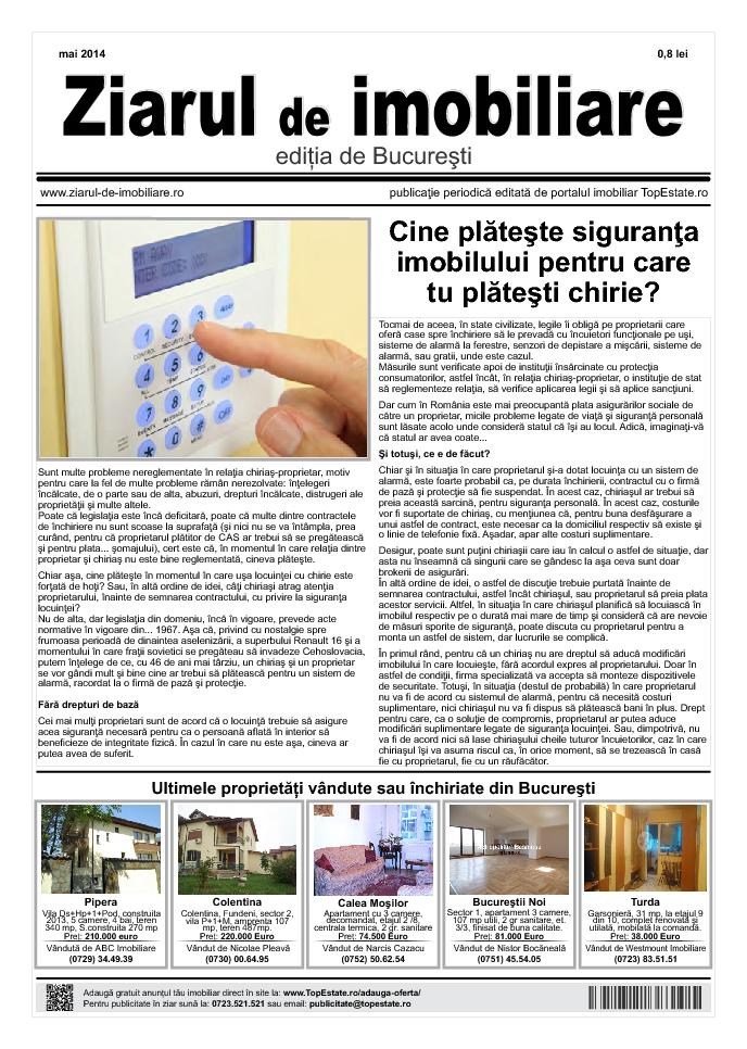 Ediţia de București, 05 Mai 2014