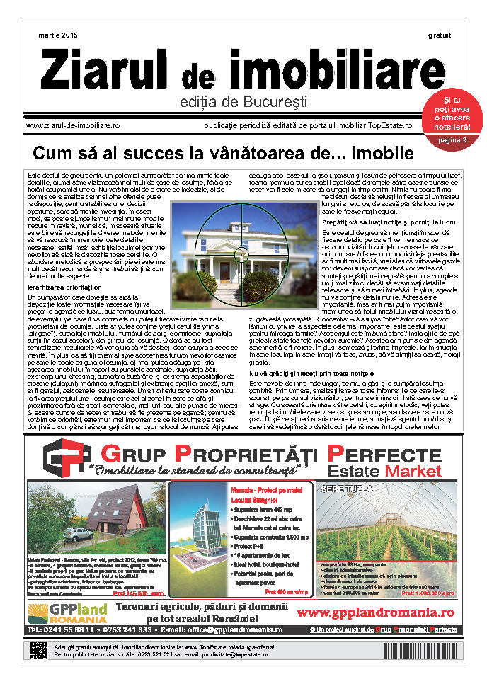 Ediţia de București, 01 Martie 2015