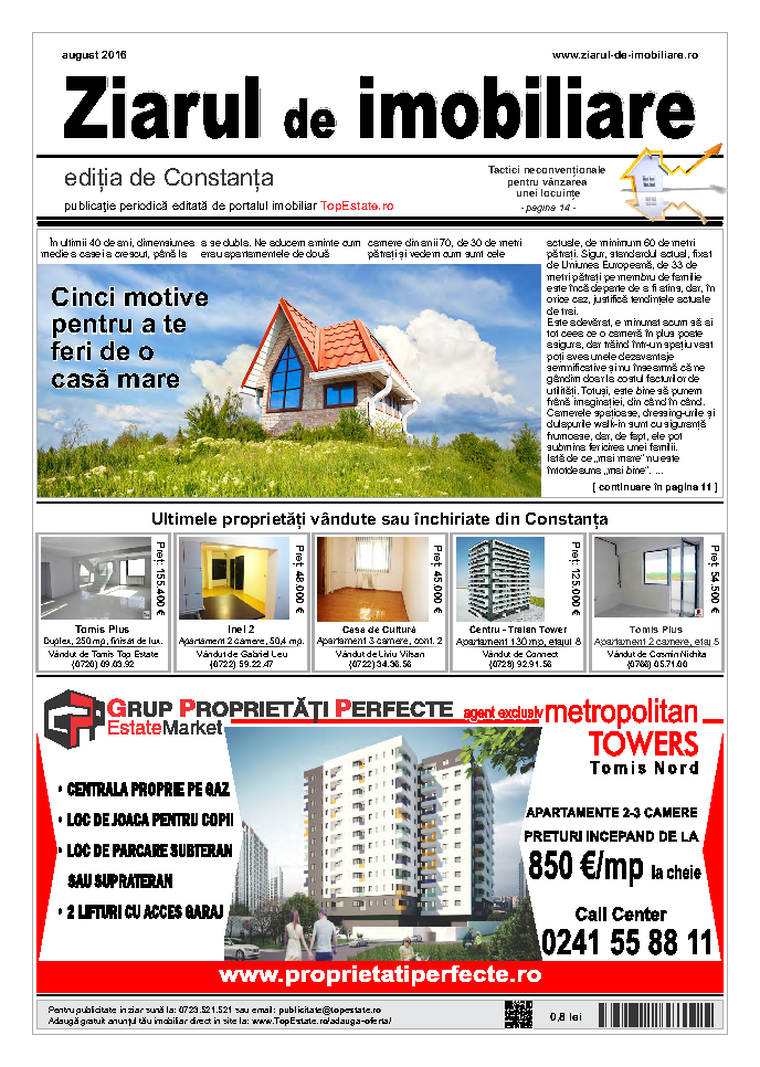 Ediţia de Constanţa, 01 August 2016